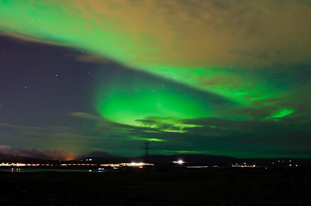 Northern lights near Reykjavik by Ólafur Már Sigurðsson