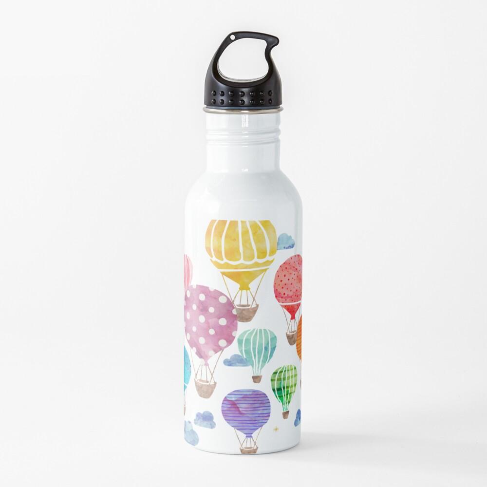 Hot Air Balloon Night Water Bottle