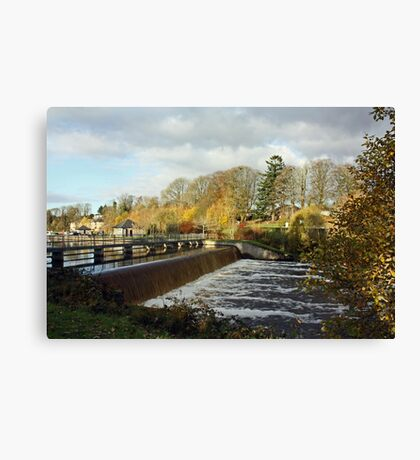 Woodford River - The Weir Canvas Print