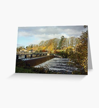 Woodford River - The Weir Greeting Card