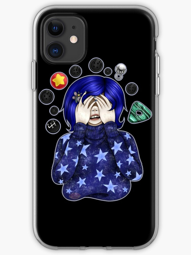 Coraline See No Evil Iphone Case Cover By Duvessacrow Redbubble