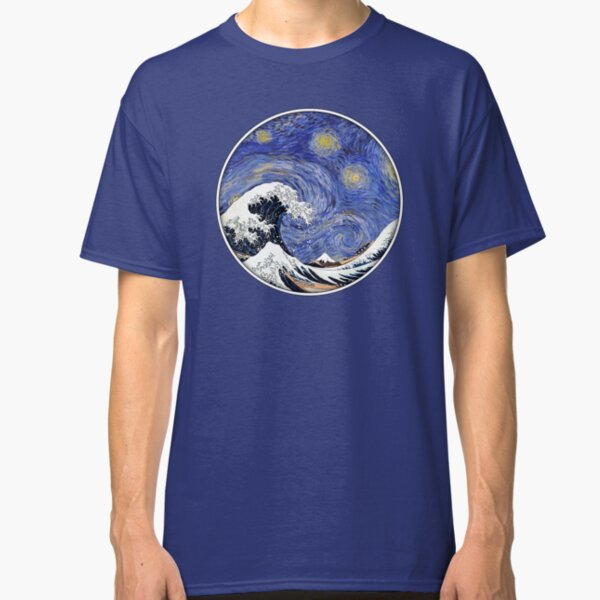 The Great Wave on a Starry Night Classic T-Shirt
