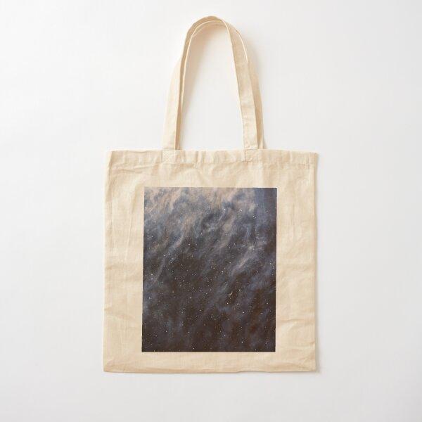 Blue Clouds, Blue Moon Cotton Tote Bag