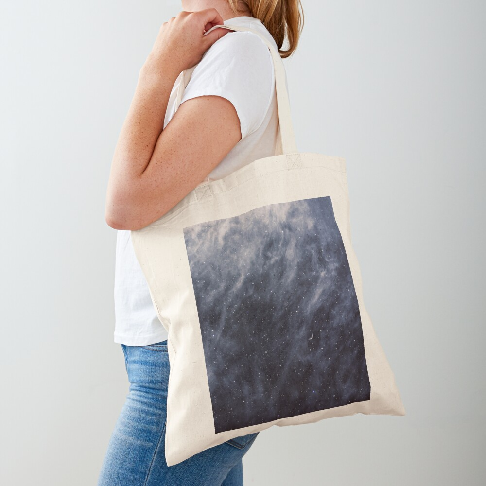 Blue Clouds, Blue Moon Tote Bag