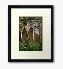 Grungy Window Framed Print