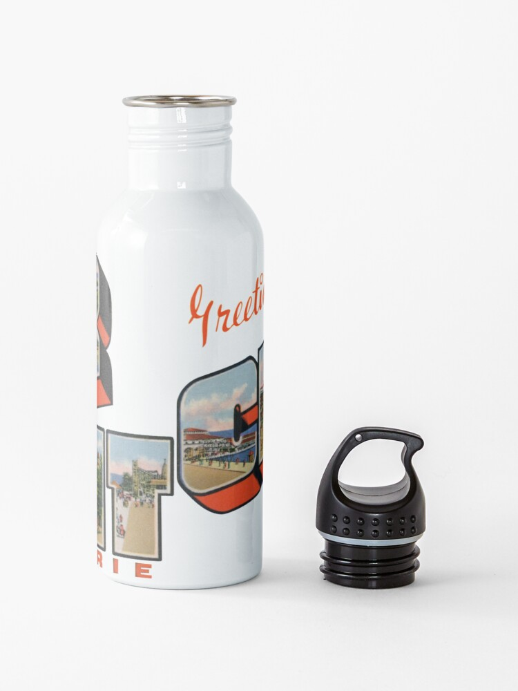 Alternate view of Greetings from Cedar Point on Lake Erie Water Bottle