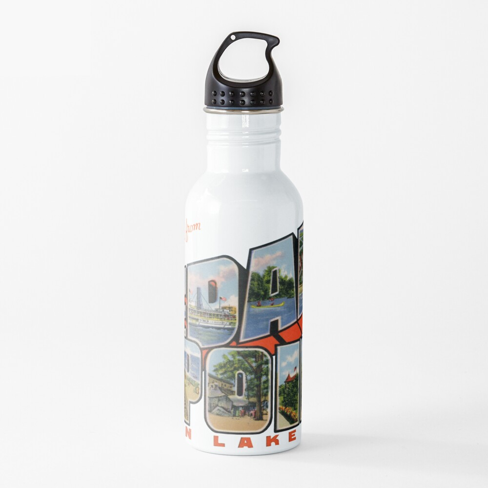 Greetings from Cedar Point on Lake Erie Water Bottle