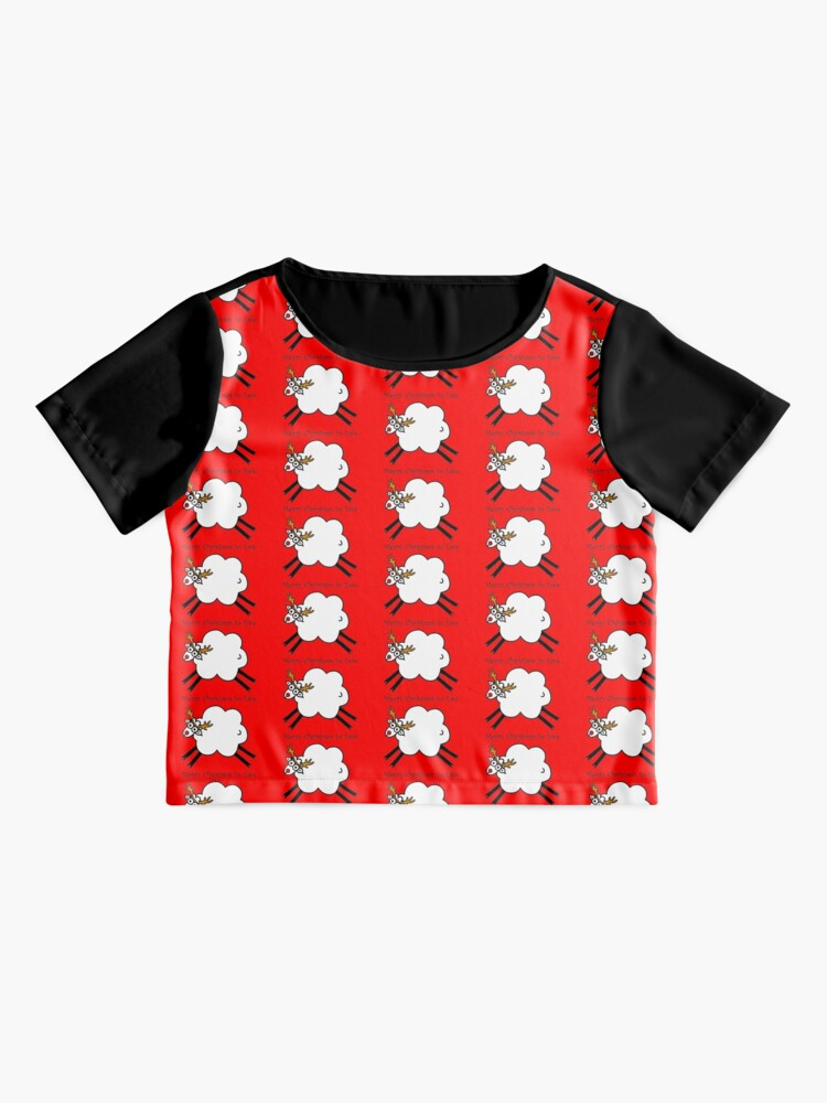 Alternate view of Merry Christmas to Ewe - Rudolph the Red-nosed Rein-sheep Chiffon Top