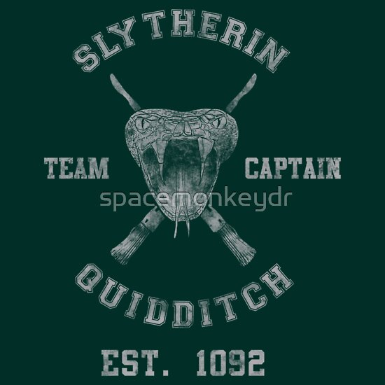 TShirtGifter presents: Slytherin Quidditch Athletic Tee Harry Potter Shirt