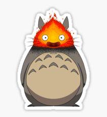 Totoro Meets Calcifer Sticker