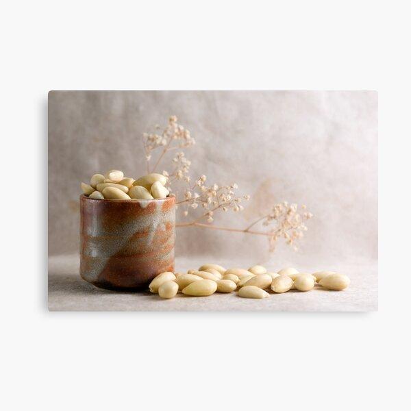 Barrel full of Almonds Metal Print