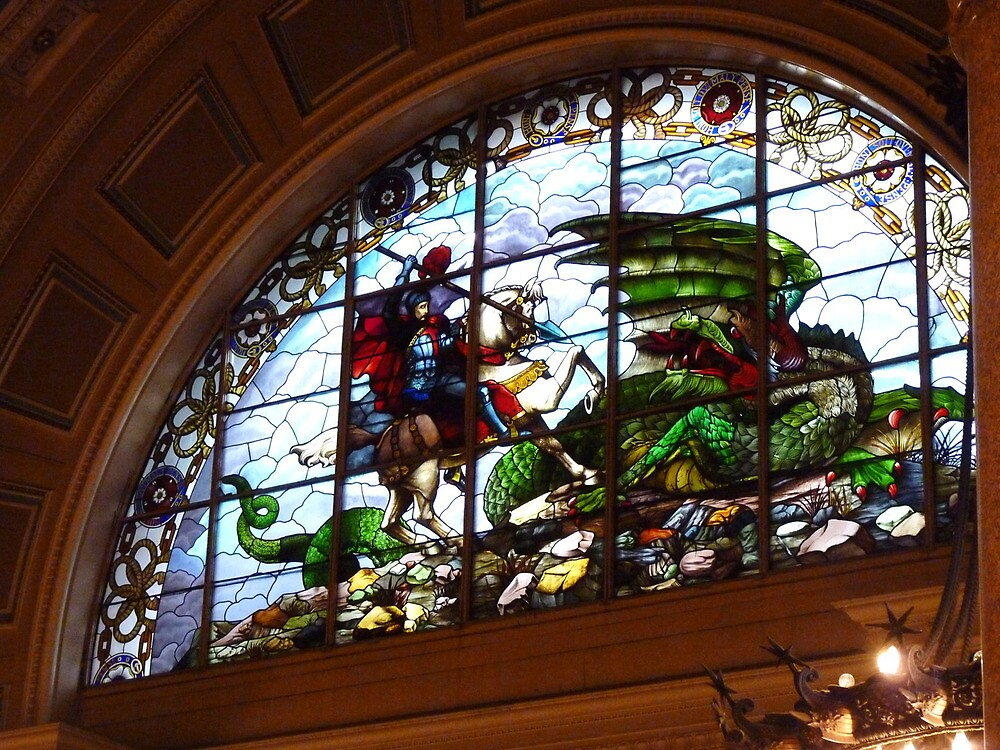 St George and the Dragon, St Georges Hall, Liverpool by artfulvistas