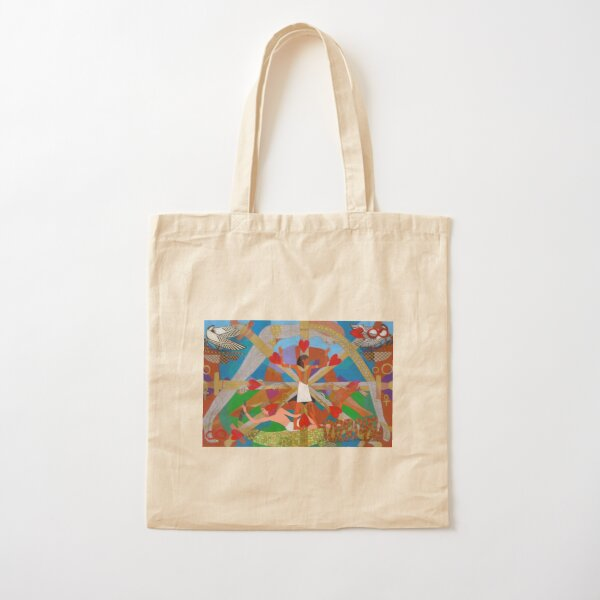 Eight of Infinite Hearts Cotton Tote Bag