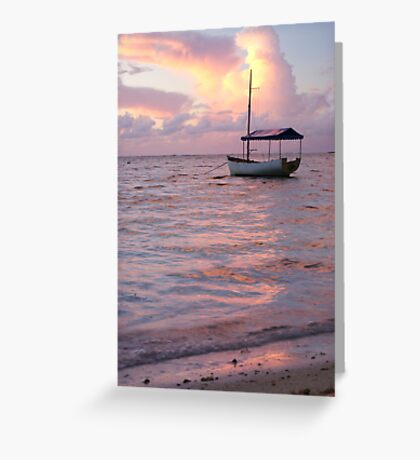 Raro dawn - Cook Islands Greeting Card
