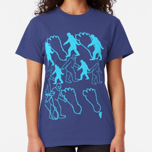 BIGFOOT APEMAN SASKATCH HAIRYMAN PATTERN BLUE Classic T-Shirt