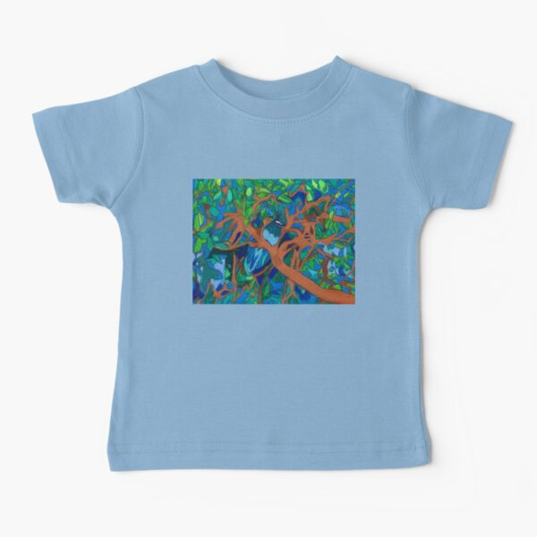 A Very Pretty Peacock in a Pear Tree Baby T-Shirt