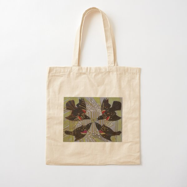 Four Calling Birds Cotton Tote Bag