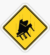 Falling Piano Sticker