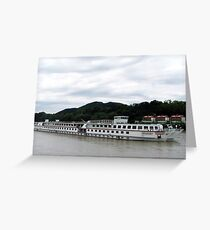 Crusing The Danube On The MS Mozart Greeting Card