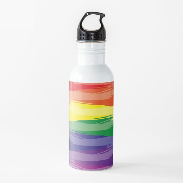Abstract Rainbow | Rainbow Colors | Stripe Patterns | Striped Patterns | Water Bottle