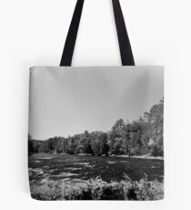Rapids in Contrast Tote Bag