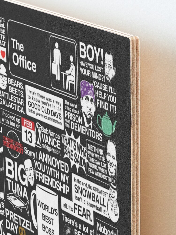 Alternate view of Wise Words From The Office - The Office Quotes Mounted Print
