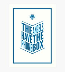 The Angels Have The Phone Box Tribute Poster Dark Blue On White Art Print