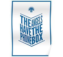 The Angels Have The Phone Box Tribute Poster Dark Blue On White Poster
