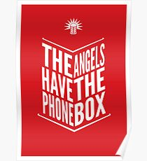The Angels Have The Phone Box Tribute Poster White On Red Poster
