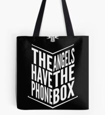 The Angels Have The Phone Box Tribute Poster White on Black Tote Bag