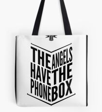 The Angels Have The Phone Box Tribute Poster Black on White Tote Bag