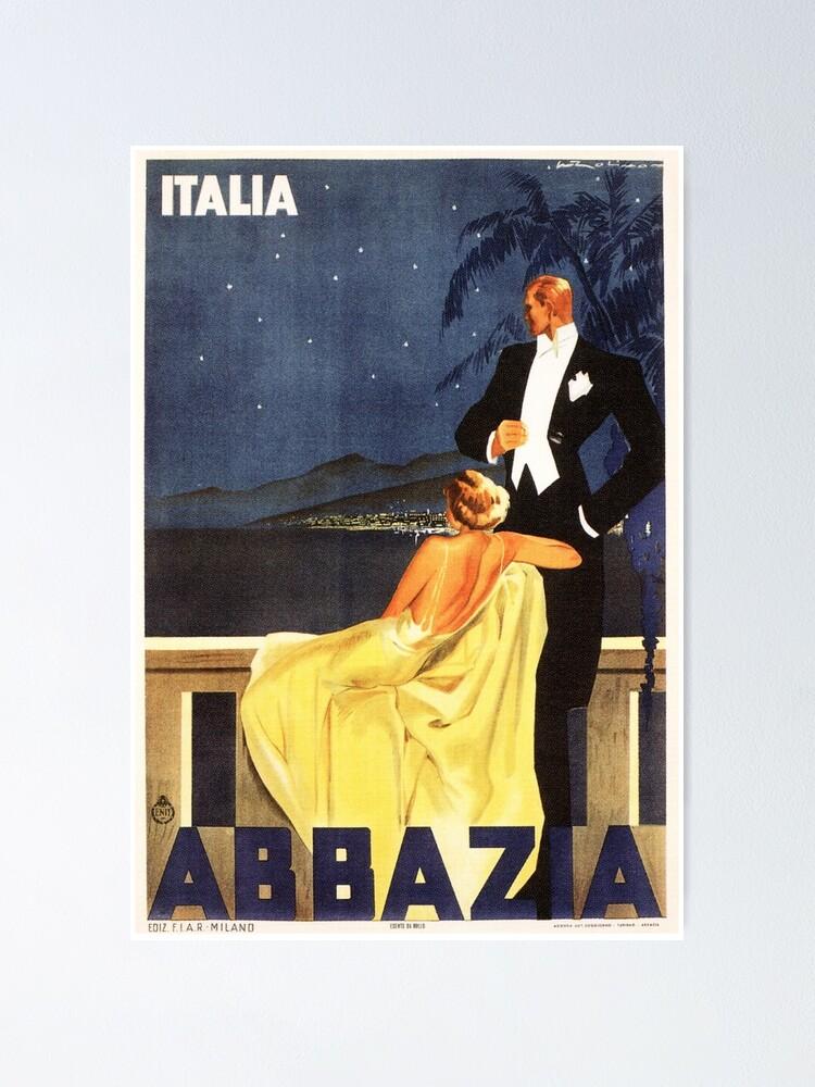 "Poster /""Milano Italian Vintage Travel Poster/"" Print on photographic paper"