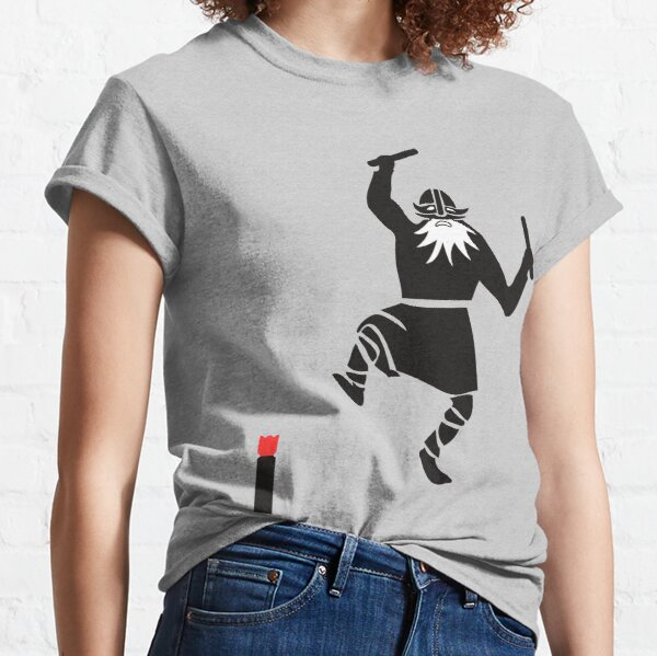 Kubb Shirt - Viking with throwing wood and king Classic T-Shirt