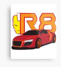 Iron Audi R8 Metal Print