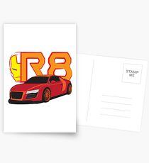 Iron Audi R8 Postcards