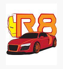 Iron Audi R8 Photographic Print