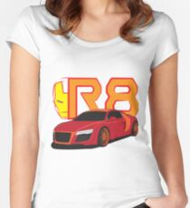 Iron Audi R8 Fitted Scoop T-Shirt