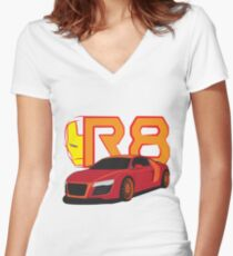 Iron Audi R8 Fitted V-Neck T-Shirt