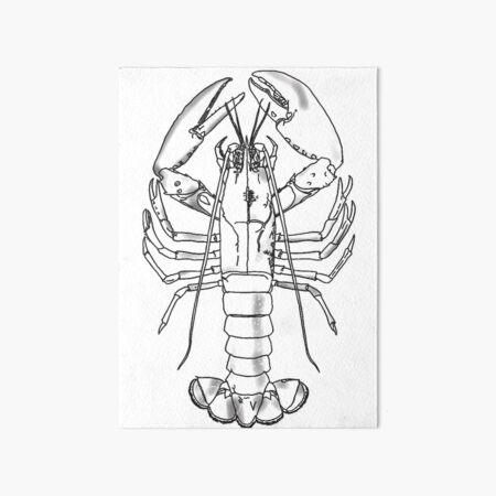 Master Lobster Art Board Print