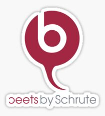 Beets By Schrute - The Office US - (Beats By Dr. Dre) Sticker