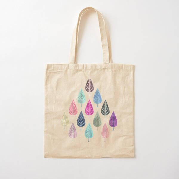 Watercolor Forest Pattern II Cotton Tote Bag