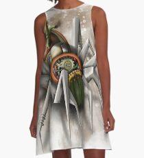 Steampunk Spinne A-Linien Kleid