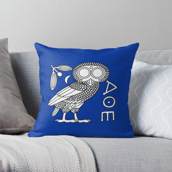 Owl of Athena [White + All] Throw Pillow