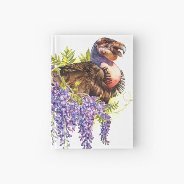 California Condor with Wisteria Hardcover Journal