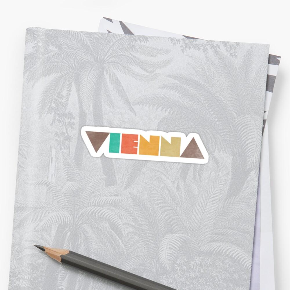 Vienna Vintage Sticker