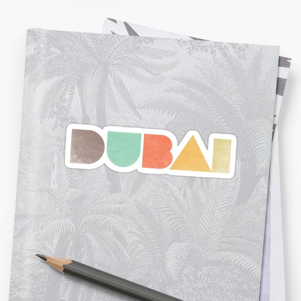 Dubai Vintage Sticker