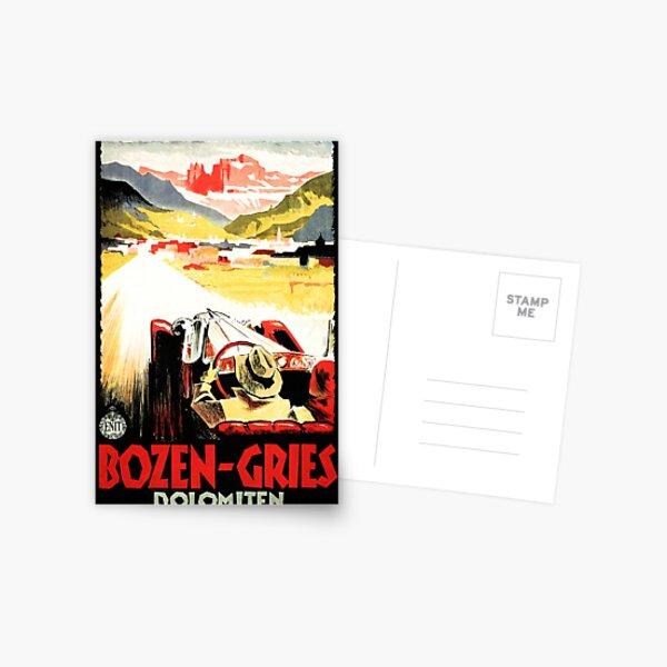 BOZEN GRIES Dolomiten Italian Racing Retro Travel Postcard
