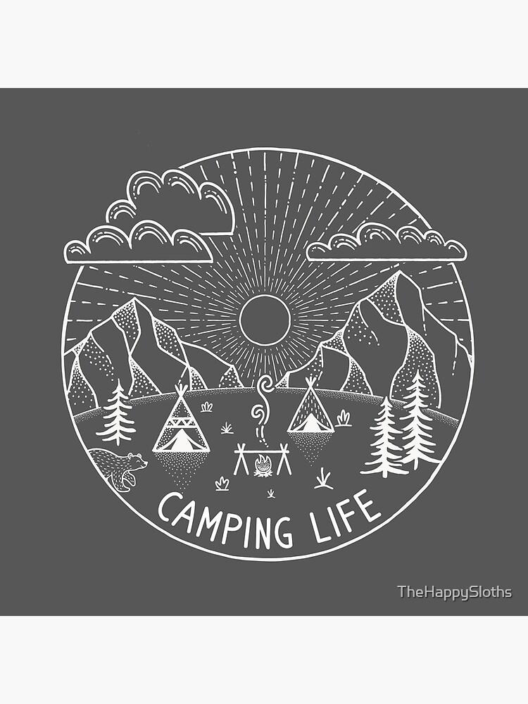 Camping Life White | Frases de campamento y aventura de TheHappySloths