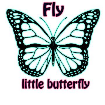 Fly Little Butterfly by WaffleOnDesigns