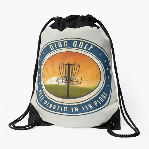 Putt Plastic In Its Place #4 Drawstring Bag
